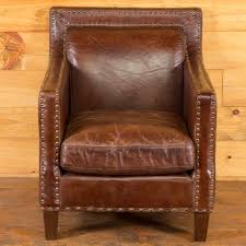 Leather Club Chair Squareback Leather Club Chair