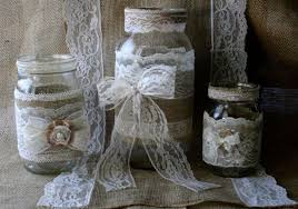 country wedding centerpieces vintage lace wedding jars burlap wedding centerpieces rustic