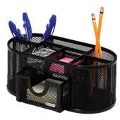 Wire Mesh Desk Organizer Rolodex Mesh Collection Desk Organizer Black 22171