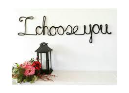 Wedding Wall Decor Wire Word Art Custom Wedding Signs Wedding Wall Decor