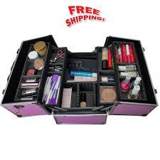 professional train case makeup artist organizer studio box beauty