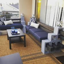 cinder block benches balcony apartment balconies my creations