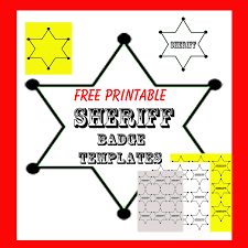 sheriff badges template templates franklinfire co