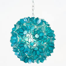 Beach Glass Chandelier Decorating Ideas Gorgeous Picture Of Decorative Light Blue Flower