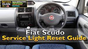 fiat scudo service light reset youtube