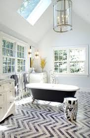 Eclectic Bathroom Ideas Affordable Interior Of Eclectic Bathroom With Chevron Floor Tile