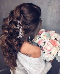 wedding hairstyles for long hair with accessories bridal