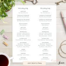 wedding program printable rustic printable wedding program order of service template