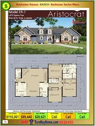 aristocrat rochester modular home ranch model er 7 plan price