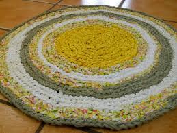 Yellow Circle Rug Learn The Formula To Make A Circle Crochet Rag Rug Part 1 Youtube