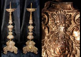candelieri in argento candelieri in argento xviii secolo shipinarte