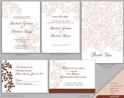 wedding stationery templates wedding invitation templates free psd invitation set