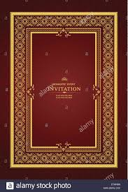 Gold Invitation Card Gold Ornament On Brown Background Can Be Used As Invitation Card