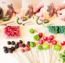 bouquet of fruits diy farmer s market bouquet