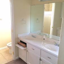 project renovate this house archives this bliss life we decided to put a soaking tub and separate shower plus replace the double vanity the permits were pulled and then the space was gutted all the way down