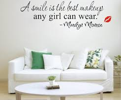 a smile is the best makeup english words quotes wall stickers