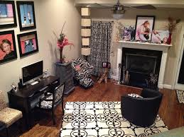 black and white living room with red accents carameloffers