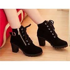 buy cheap boots malaysia chunky zip up ankle boots shoes bags fashion