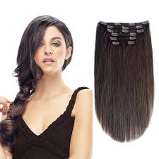 human hair clip in extensions 15 brown 2 120g remy human hair clip in extensions for