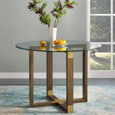 rustic oak dining table twila rustic oak glass top dining table fh7805 the home depot