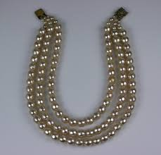 pearl necklace strand images 3 strand rousselet pearl necklace for sale at 1stdibs jpeg