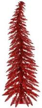 vickerman whimsical 4 u0027 red spruce artificial christmas tree