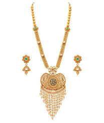 long ethnic necklace images Jfl traditional ethnic one gram gold plated real kundan jpg