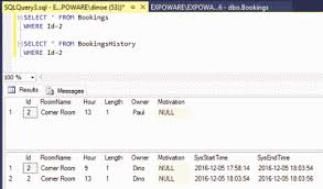 sql 2016 temporal table cutting edge soft updates with temporal tables