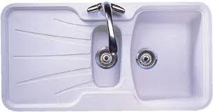 Korona  Bowl Granite Rok Opal White Composite Kitchen Sink - White composite kitchen sinks