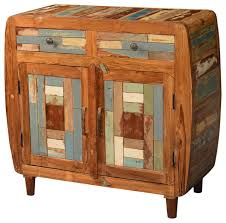 Rustic Buffet Tables by Rounded Corners Mosaic Reclaimed Wood Buffet Sideboard Cabinet
