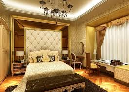 Gorgeous Diamond Tufted Shape Of Bed Head Also Ceiling To Floor - Luxury interior design bedroom