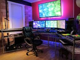 Best Gaming Pc Desk Battlestation Computer Setups Pinterest Pipe Desk Desks And