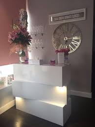 White Gloss Reception Desk White Gloss Reception Desk Counter Led Lights Salon Chairs D For