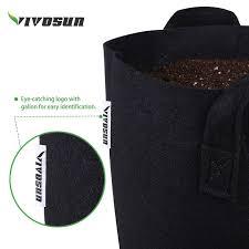 amazon com vivosun 5 pack 1 gallon heavy duty thickened nonwoven