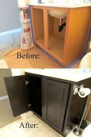 bathroom update how to paint laminate cabinets shiplap