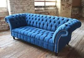 Blue Velvet Chesterfield Sofa Modern Handmade Teal Blue Velvet Chesterfield Sofa Chair 3
