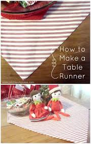 how to make a table runner with pointed ends how to make a table runner
