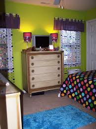 Lime Green Bedroom Ideas Lime Green And Purple Bedroom Showing Green Wall Theme And Purple