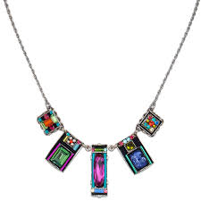 multi color necklace images Multi color baguette necklace 8618 firefly jewelry jpg