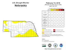 Nebraska State Map United States Drought Monitor U003e Current Map U003e State Drought Monitor