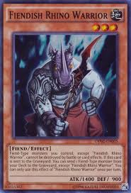 fiendish rhino warrior yu gi oh fandom powered by wikia