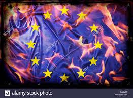 Flag Burning Supreme Court Burning Eu Flag Stock Photo Royalty Free Image 109996372 Alamy