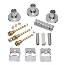 Old Shower Faucet Parts Danco 3 Handle Tub And Shower Rebuild Trim Kit For Kohler In