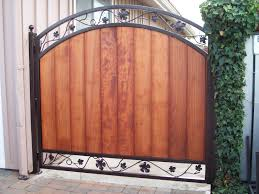 ornamental iron frame for wooden gate v m iron works inc in