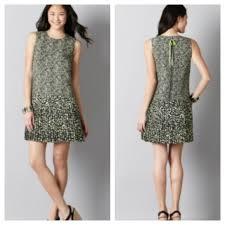 loft loft green animal print drop waist pleated dress 8 from