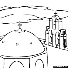 famous places landmarks coloring pages 1