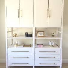 Ikea Drawer Pulls by Brass Hardware Adds A Touch Of Class To This Ikea Ivar Unit