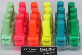 lot of six nail polish neon easy paris nails 2015 new colecction