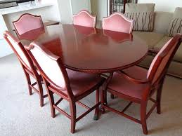 price reduced for quick sale mahogany dining table and six shield