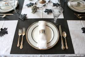 black and white table settings a stylish halloween table setting entertaining ideas